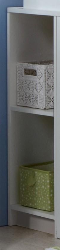 Dětský regál Kimba - Regál k přebalovacímu pultu (bílá, dub)