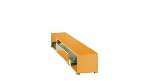 Dětský regál LABYRINT LA 21 (krémová/oranžová)