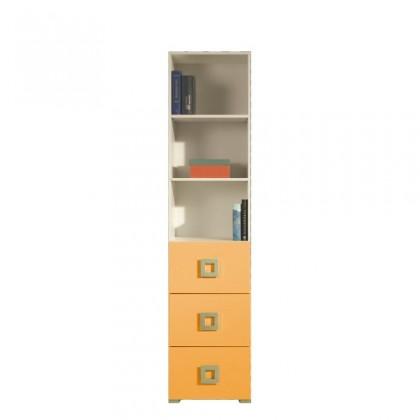 Dětský regál LABYRINT LA 5 (krémová/oranžová)