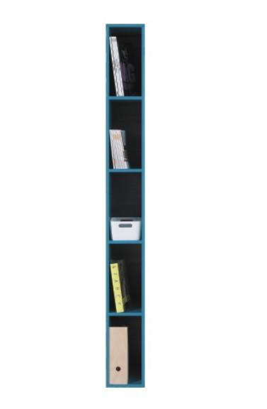 Dětský regál SAJMON SJ 6 (modřín/tyrkysová)