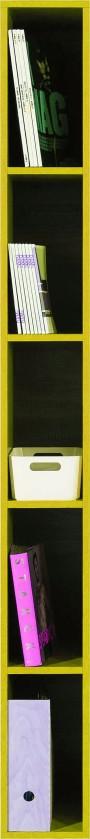 Dětský regál SAJMON SJ 6 (modřín/žlutá)