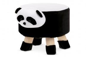 Dětský taburet Panda černá, bílá