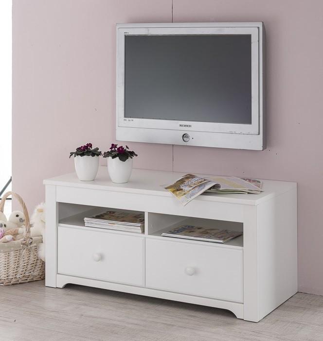 Dětský TV stolek Santorini - TV stolek, typ 31 (bílá arctic)