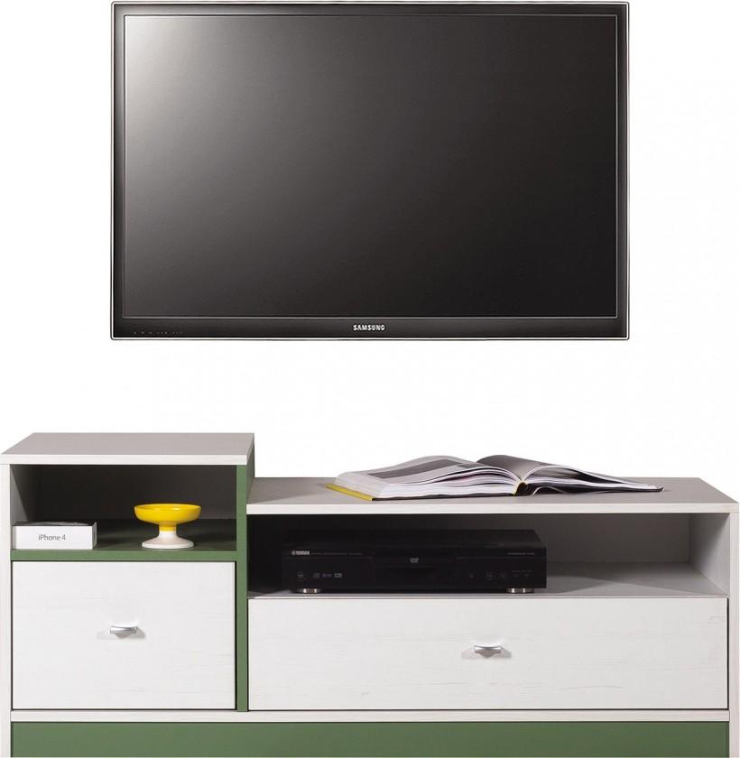 Dětský TV stolek Stone - TV stolek ST9 (bílá, zelená)