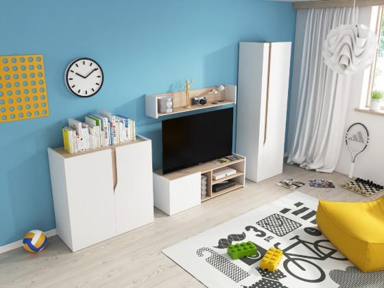 Dětský TV stolek TV stolek+polička Bubu