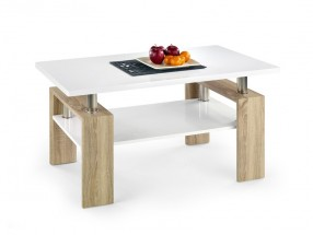 Diana - konferenční stolek (deska a police:bílá/nohy:dub sonoma)