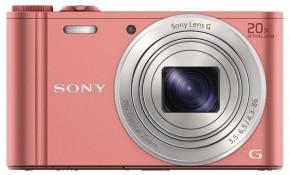 Digitální fotoaparát Sony Cybershot DSC-WX350, růžová