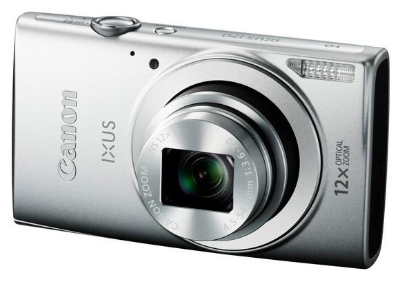 Digitální kompakt Canon IXUS 170, 20.0MPix, 12x zoom - Stříbrný