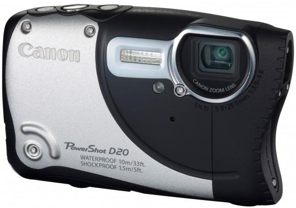 Digitální kompakt Canon POWERSHOT D20 Silver