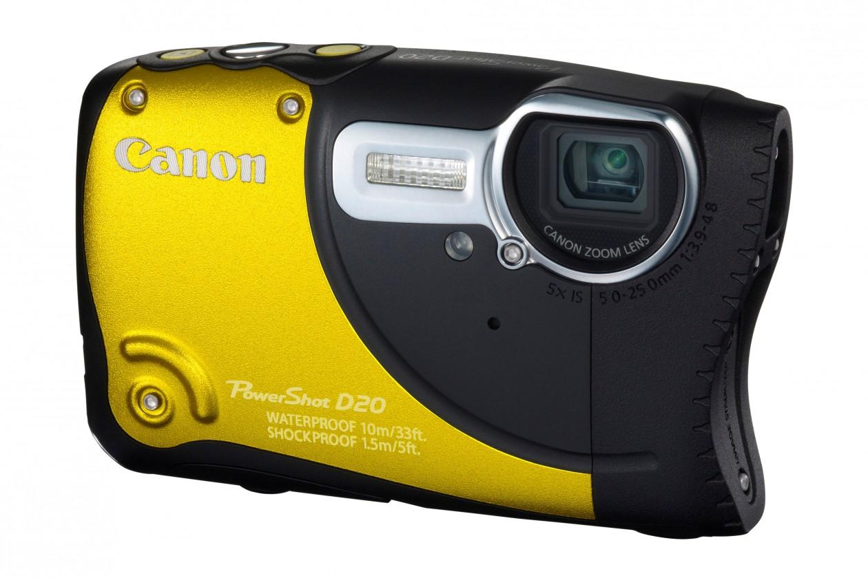 Digitální kompakt Canon PowerShot D20 Yellow