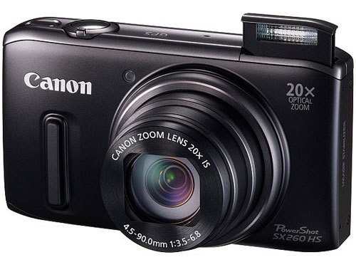 Digitální kompakt Canon POWERSHOT SX 260 HS Black