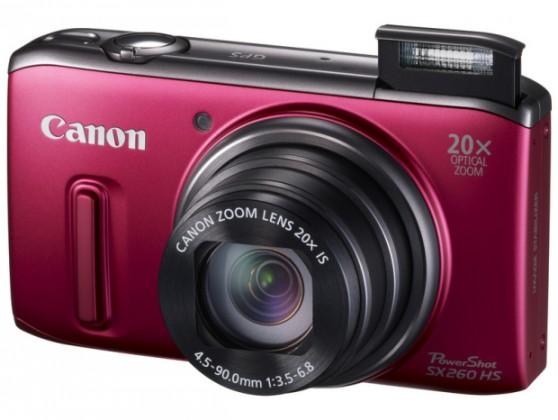 Digitální kompakt Canon POWERSHOT SX 260 HS Red