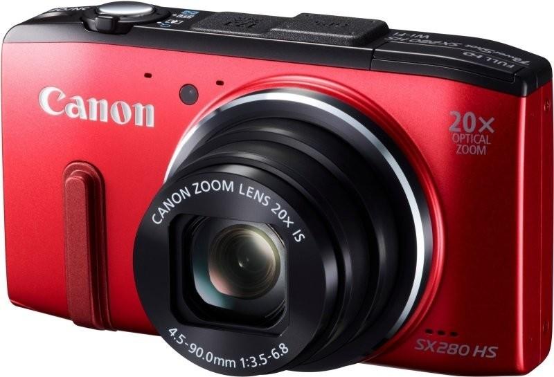 Digitální kompakt Canon POWERSHOT SX 280 Red