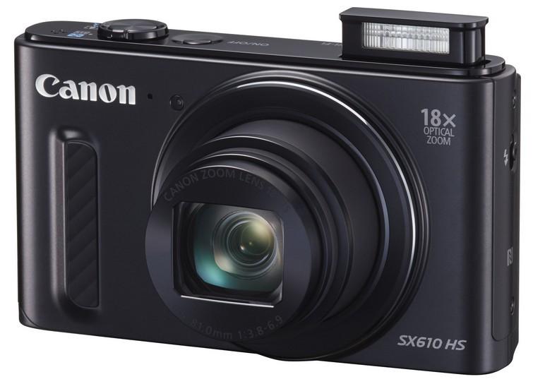 Digitální kompakt Canon PowerShot SX 610 HS, 20.2Mpix, 18x zoom, Wi-Fi - Černý