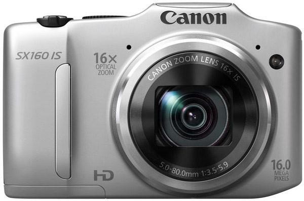 Digitální kompakt Canon POWERSHOT SX160 IS Silver