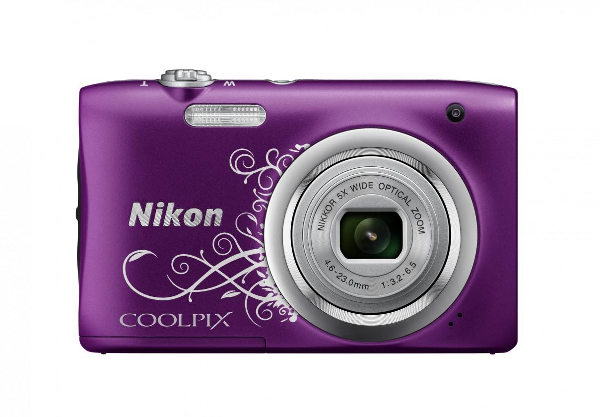 Digitální kompakt Digitální fotoaparát Nikon Coolpix A100, fialová art