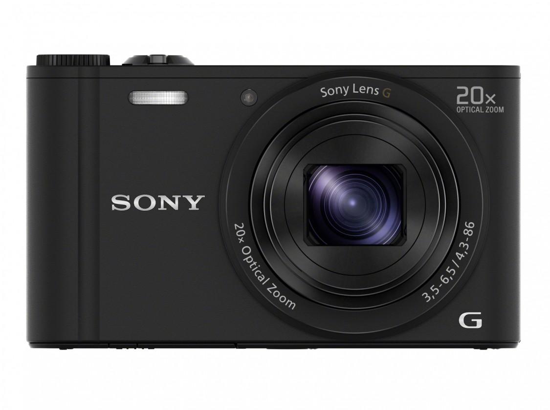 Digitální kompakt Digitální fotoaparát Sony Cybershot DSC-WX350, černá