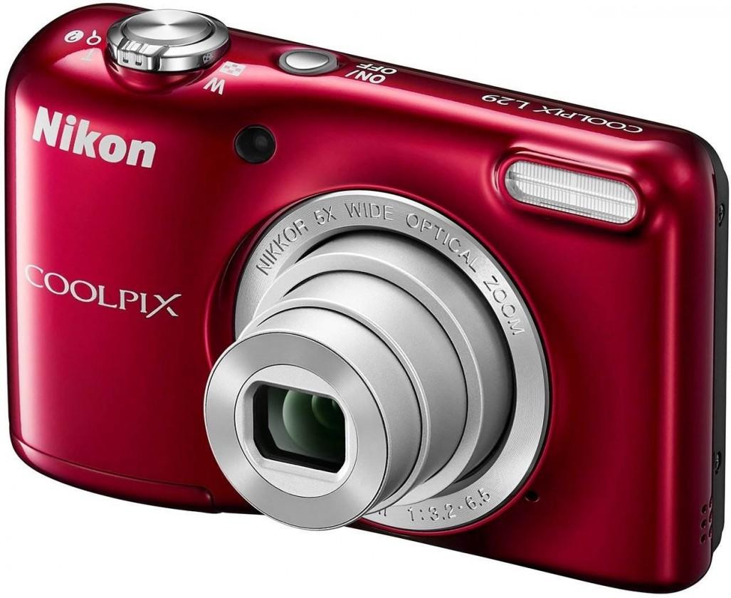 Digitální kompakt Nikon Coolpix L29 Red ROZBALENO