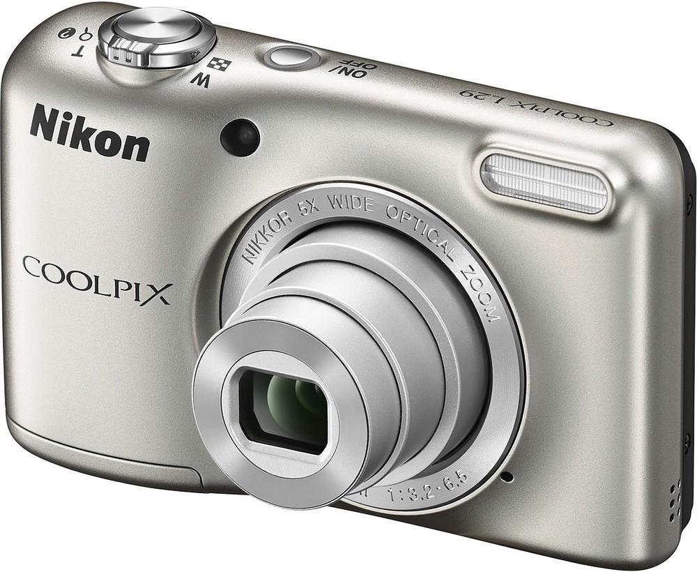 Digitální kompakt Nikon Coolpix L29 Silver ROZBALENO