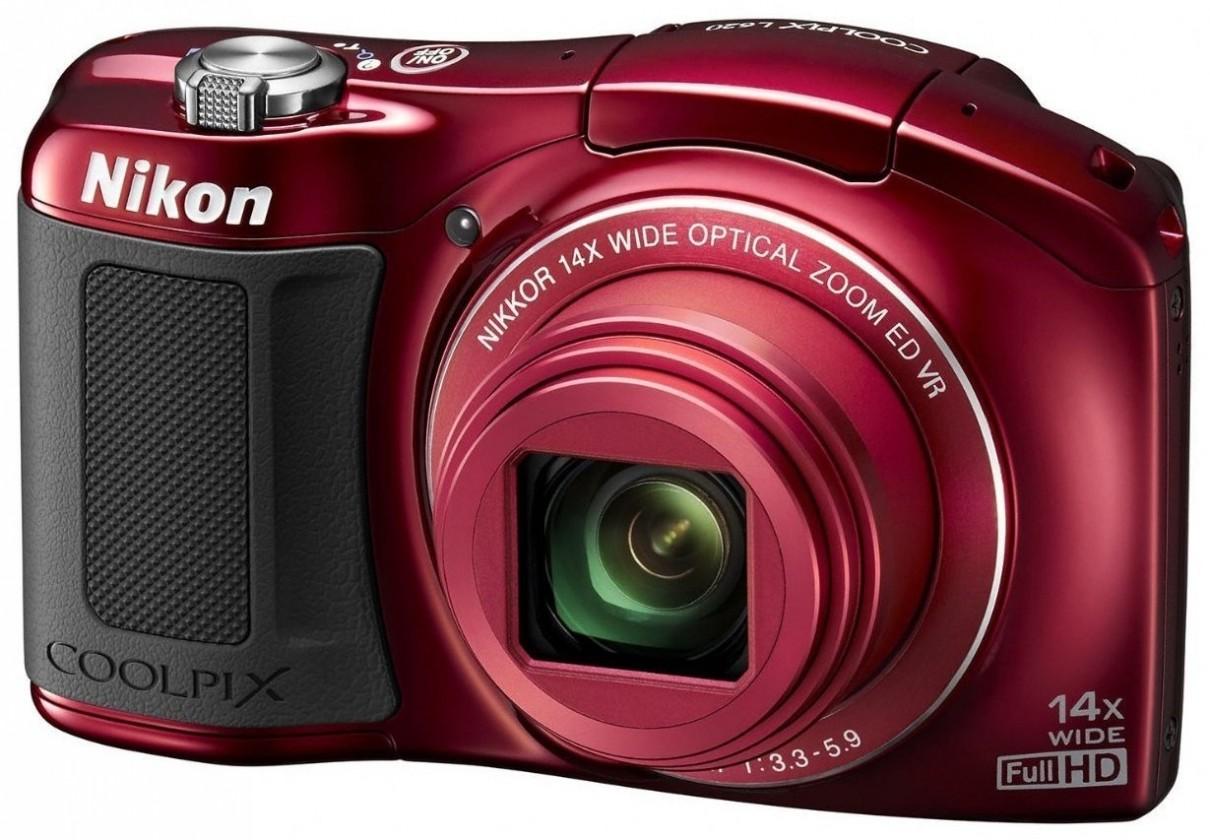 Digitální kompakt Nikon Coolpix L620  Red