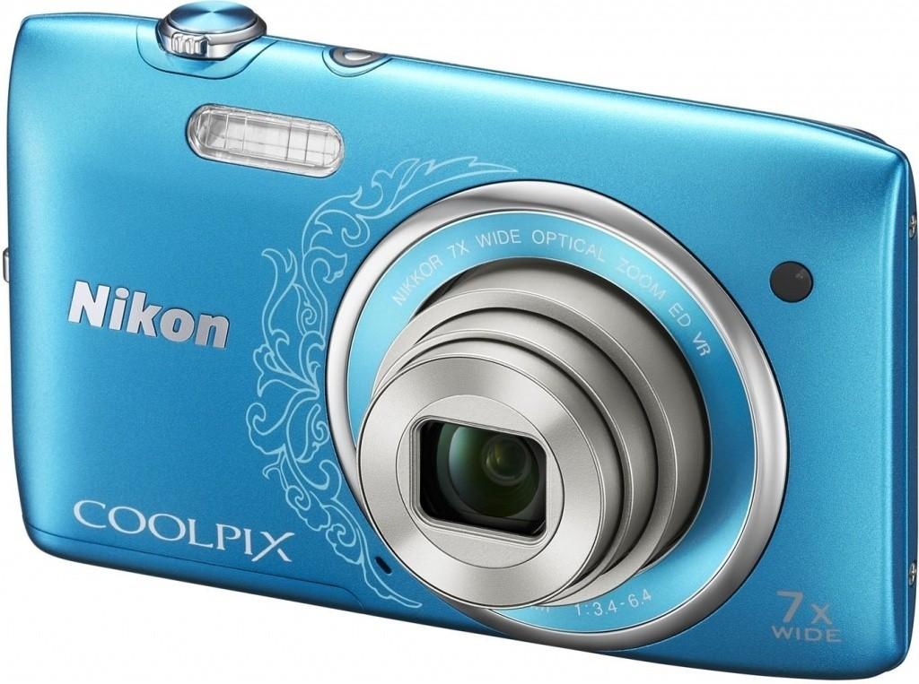 Digitální kompakt Nikon Coolpix S3500 Blue Art