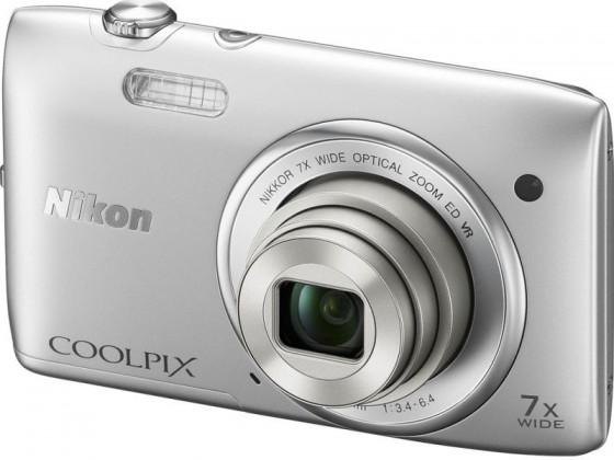 Digitální kompakt Nikon Coolpix S3500 Silver