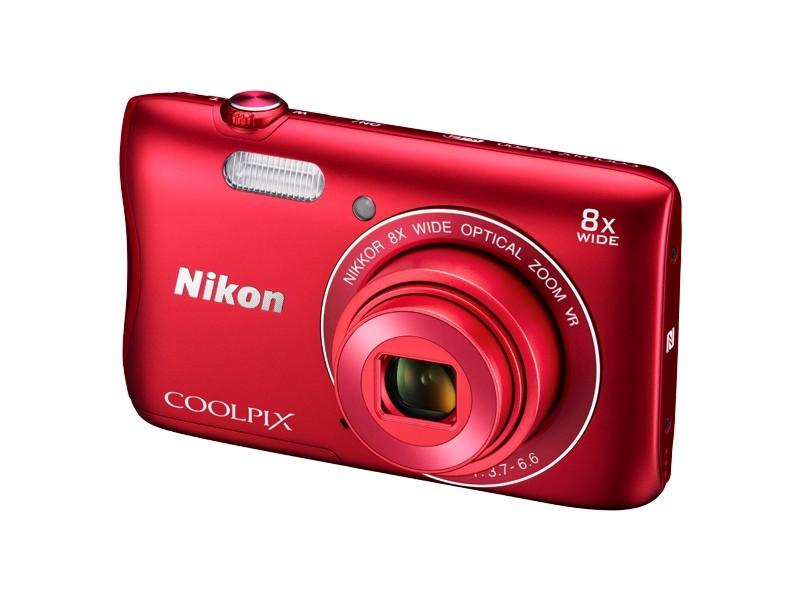 Digitální kompakt Nikon COOLPIX S3700 red