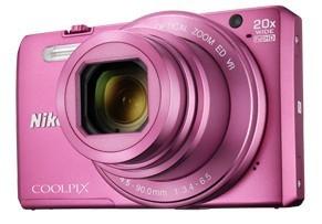 Digitální kompakt Nikon COOLPIX S7000 pink + pouzdro + 8 GB SD card ROZBALENO