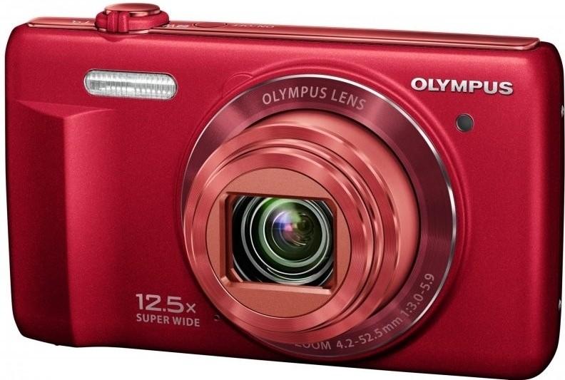 Digitální kompakt Olympus VR-370 - 16 MP, 12,5x zoom iS - Red