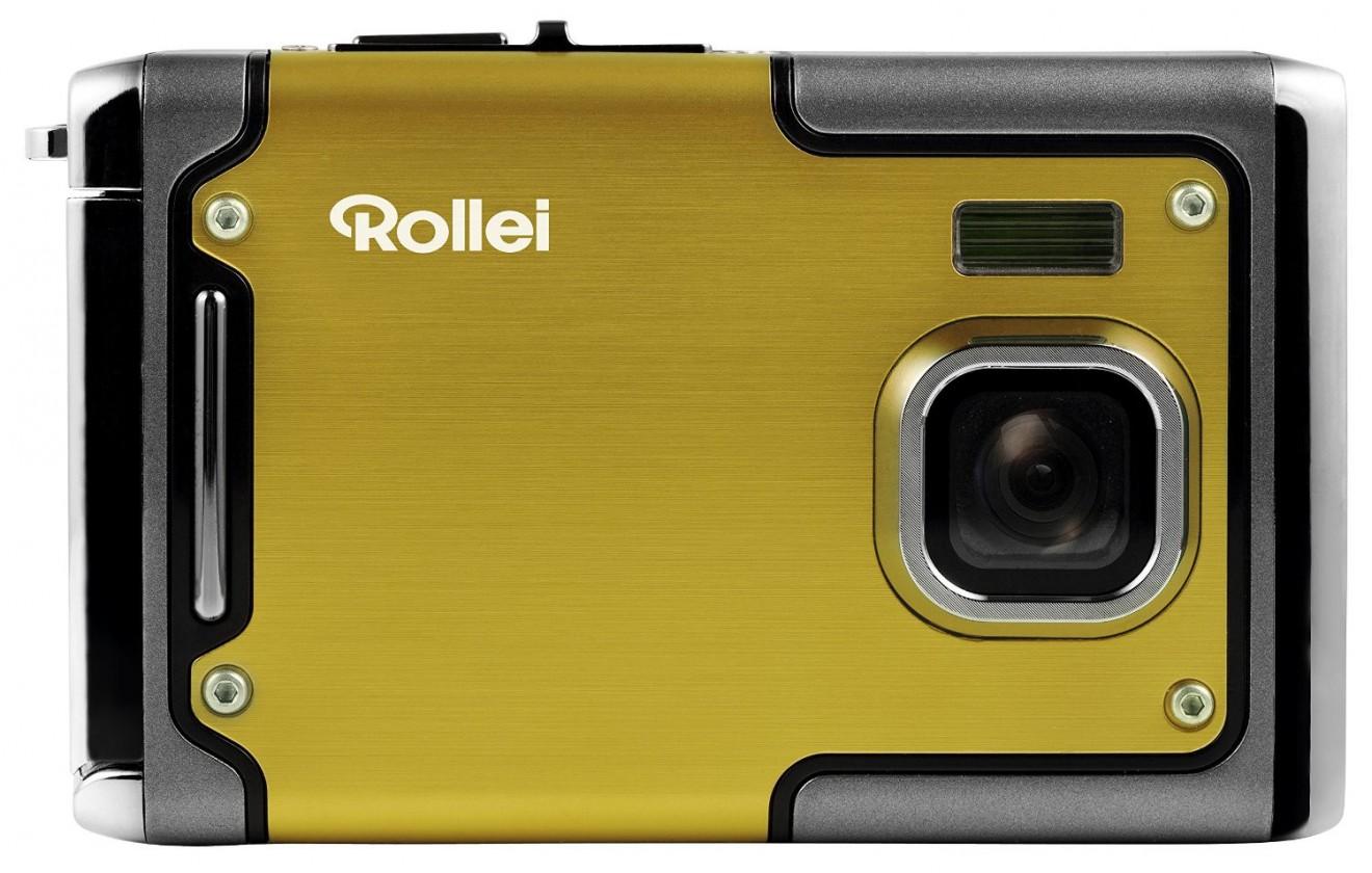 Digitální kompakt Rollei Sportsline 85 outdoor sportovní kamera, žlutá