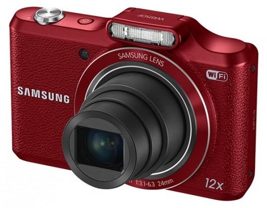 Digitální kompakt Samsung WB50F, červený