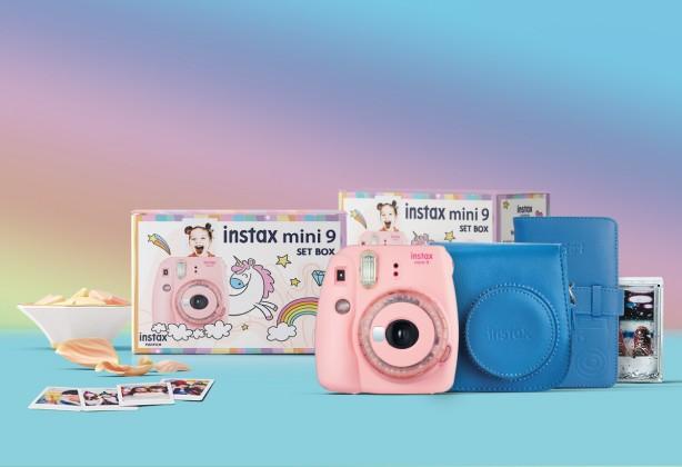 Digitální kompakt Set Instax mini 9 růžová + příslušenství