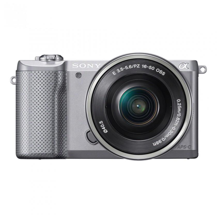 Digitální kompakt Sony Alpha 5000 stříbrný + objektiv 16-50mm (ILCE5000LB.CEC)
