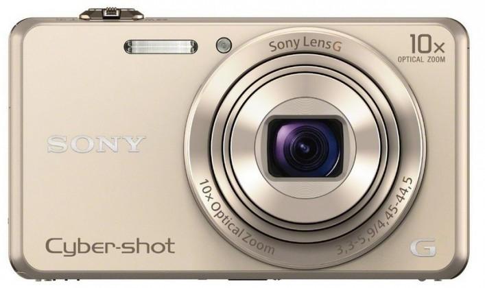 Digitální kompakt Sony DSC-WX220 zlatá,18,2Mpix,10xOZ,fullHD,WiFi zlatá