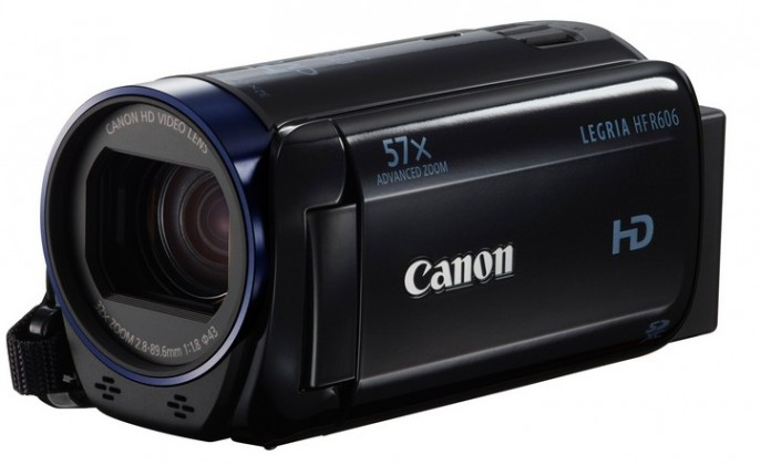 Digitální videokamera Canon Legria HF R606, Full HD, 57x zoom - Černá