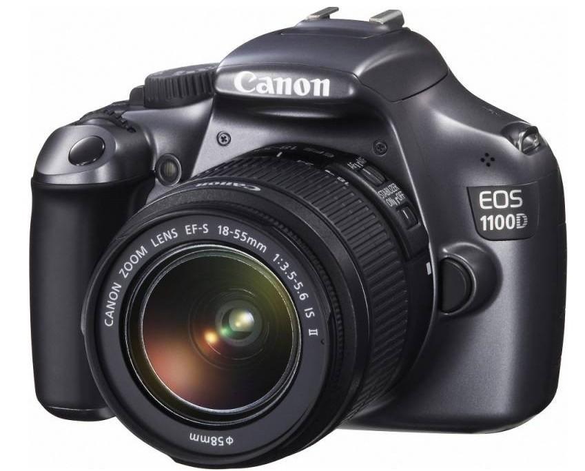 Digitální zrcadlovka Canon EOS 1100D Black + EF 18-55 DC + EF 75-300 DC