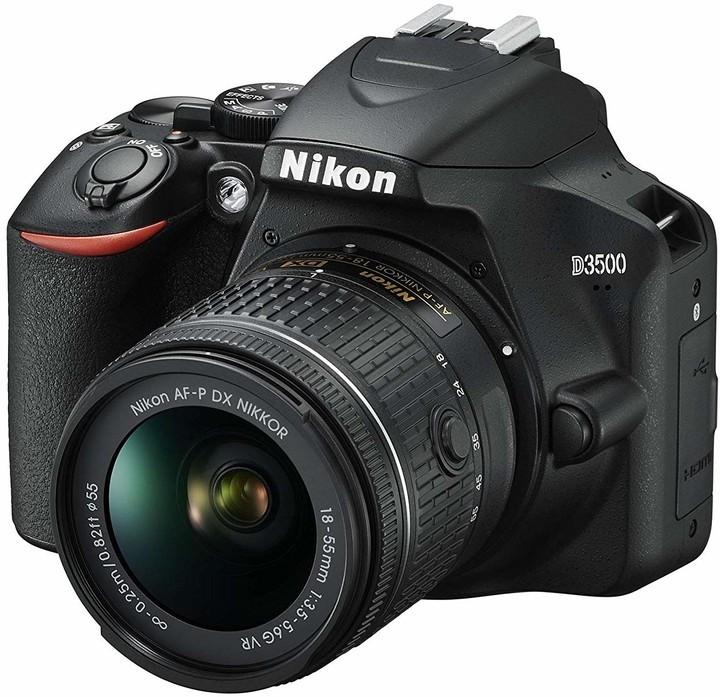 Digitální zrcadlovka Digitální zrcadlovka Nikon D3500 + objektiv 18-55mm, černá