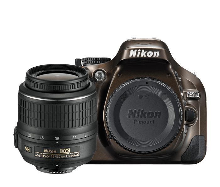 Digitální zrcadlovka Nikon D5200 Bronze + 18-55 AF-S DX VR II