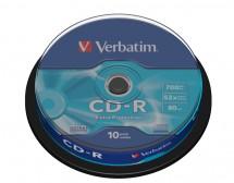 Disk Verbatim CD-R, 700MB, bez možnosti potisku, 10 ks 43437