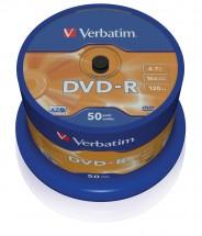 Disk Verbatim DVD-R, 4,7GB, bez možnosti potisku, 50 ks 43548
