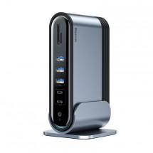 Dokovací stanice Baseus Three-Screen, multifunkční adaptér USB-C