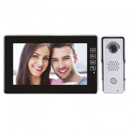 Domácí videotelefon EMOS s pamětí, barevná sada, H1018