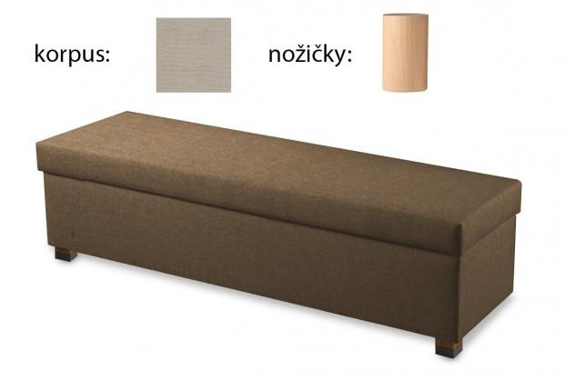 Doplněk Boxbed( 180x43x45 - papyrus, nohy buk)