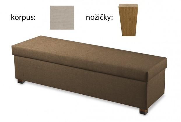 Doplněk Boxbed( 180x43x45 - papyrus, nohy original buk)