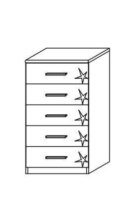 Doplněk Celle AP455.67B4 (dub sanremo světlý/bílá lesk)