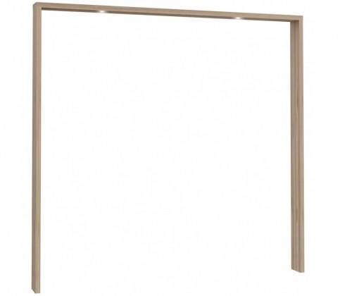 Doplněk Corsica - Rám skříně, 231x215x22 + 2xLED (dub)