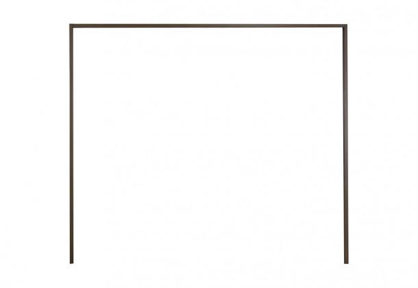 Doplněk Imola - Paspartový rám pro skříň, š. 200cm (nocce, kouřové sklo)