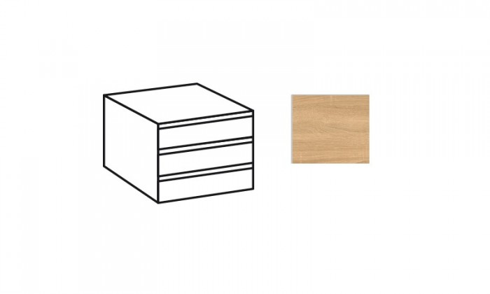 Doplněk Match Up - Vnitřní zásuvky (dub zdrsněný)