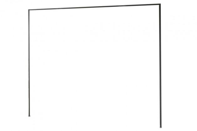 Doplněk Medina - Římsa na šatní skříň 300 cm (lava černá)