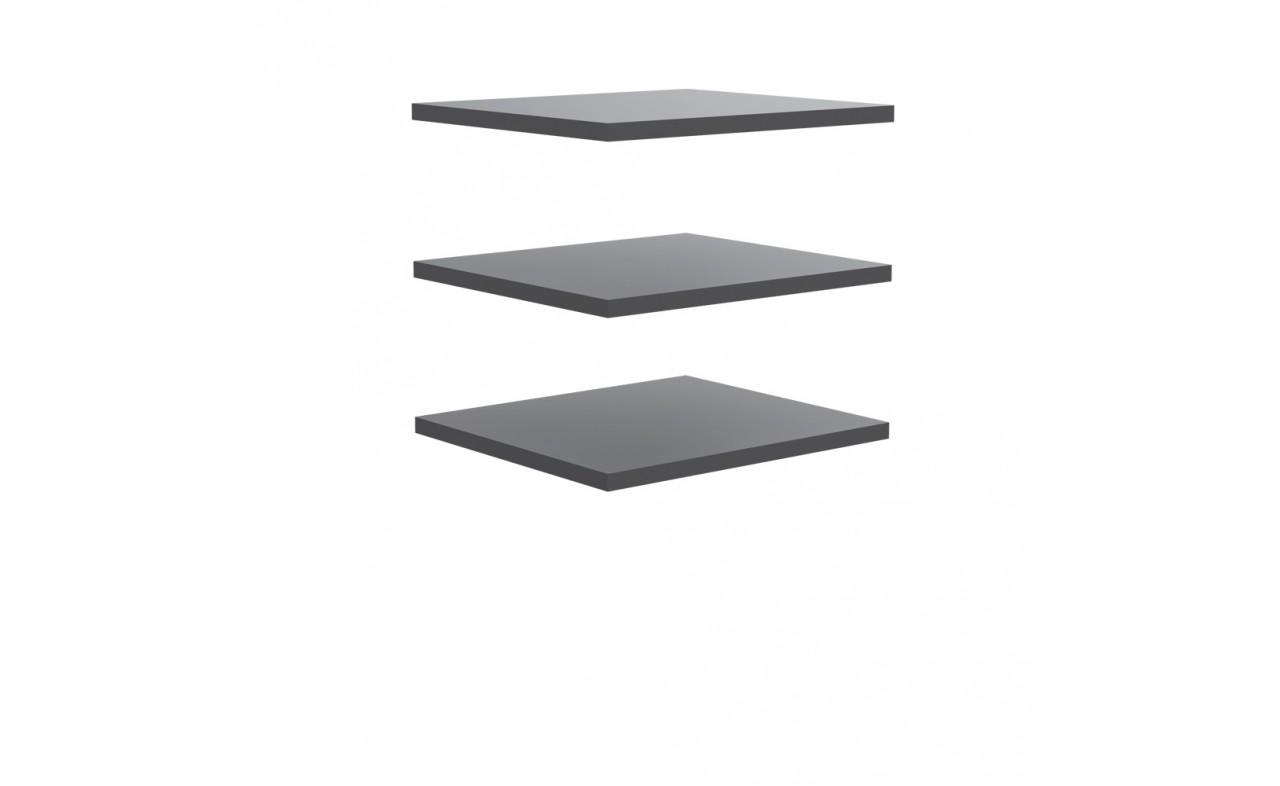 Doplněk Starlet Plus - Set 3 polic 48 cm (pro STPS124E1) (šedá)
